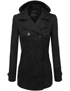 Kenneth Cole Reaction Men S Classic Peacoat With Bib And Epaulettes
