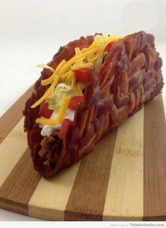 Bacon Taco. Don't know that I'd do this but had to make sure some of my friends saw this.