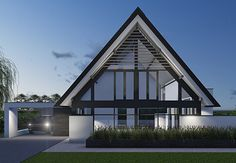Villa R - interior | architecture | totaal concepten | interieur | tuinplan - Marco van Veldhuizen Minimalist House Design, Modern House Design, Residential Architecture, Modern Architecture, Triangle House, Modern Bungalow, House Roof, Classic House, Villa