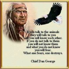 Native American Indian Talk to the Animals....a thought for the pit bulls and all other dogs mis-labeled as bad