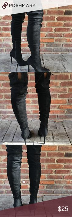 High Black Boots Thin Heel Windsor Shoes Heels