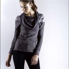 Lia Larrea Olivier sweater Lia Larrea Olivier Sweater adjustable neckline with low back hem.  Machine washable. Lia Larrea Sweaters Cowl & Turtlenecks