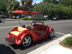 One of the many awesome golf carts you'll see at The Villages.  April 2014