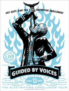 Guided By Voices concert poster by Thomas Scott