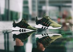 Adidas EQT Support ADV - Cargo Green - 2017 (by juanma_jmse) Clean and care for your sneakers with shoe trees by Sole Trees Reebok, Tenis Nmd, Sock Shoes, Shoe Boots, Adidas Sneakers, Shoes Sneakers, Zapatillas Casual, Shoe Tree, Nike Shoes Outlet
