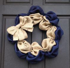like this burlap wreath design!