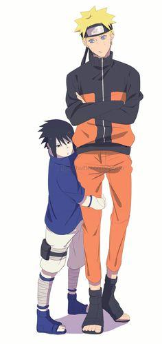 Naruto and Little Sasuke Naruto Shippuden Sasuke, Sasunaru, Anime Naruto, Naruto Und Sasuke, Naruto Cute, Naruto Funny, Narusasu, Otaku Anime, Itachi