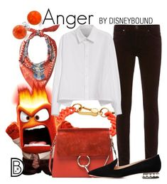 Anger by leslieakay on Polyvore featuring polyvore, fashion, style, Y's by Yohji Yamamoto, AG Adriano Goldschmied, Nicholas Kirkwood, Chloé, Marc by Marc Jacobs, Bling Jewelry, Pendleton, clothing, disney, disneybound and disneycharacter