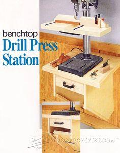 Drill Press Stand Plan - Drill Press Tips, Jigs and Fixtures   WoodArchivist.com