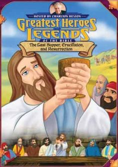 Greatest Heroes & Legends/The Last Supper, Crucifixion, and Resurrection DVD - Narrated by Charlton Heston, this is a wonderfully animated series that bring the best-known and best loved Bible stories to life for the Easter Movies, Jesus Is Risen, Jesus Loves, Animation Programs, Jesus Is Alive, Easter Story, Christian Movies, Last Supper, Holy Week