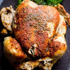 Instant Pot Frozen Chicken Recipe or how to cook juicy and flavourful whole frozen chicken in any electric pressure cooker in 35 minutes.