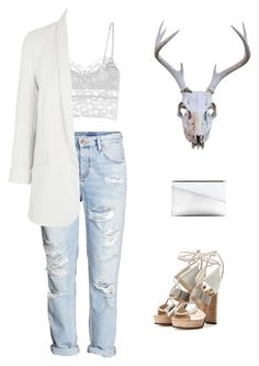 """""""@emilykatephilip Sticks & Stones."""" by emilykatephilip on Polyvore featuring H&M, Cosabella, Topshop, Marni and Jimmy Choo"""