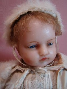 20 Inch Early Pierotte Poured Wax Baby Doll Extraordinaire! from dollstx on Ruby Lane
