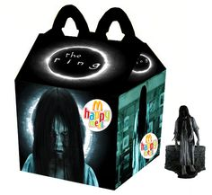 """""""The Ring"""" Happy Meal. They need to give away the well, the tv, and a Samara to climb out of each. Horror Movie Characters, Best Horror Movies, Cult Movies, Scary Movies, Ghost Movies, Samara Morgan, Happy Meal Box, Feliz Halloween, Halloween Stuff"""