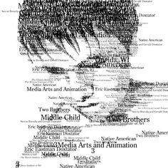 Typography portrait...just did this project last year!