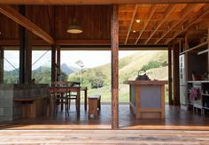 House of the Day: K Valley House by Herbst Architects  This house built into the steep hillside of New Zealands Kauaeranga Valley was designed with a focus on sustainability and the provenance of materials. The corrugated iron exterior draws from the traditional rusting iron sheds common in the district and has begun to develop a distinctive patina of age intended as a kind of rural camouflage.  Photography: Lance Herbst  #themodernhouse #houseoftheday #herbstarchitects #kvalleyhouse…