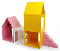 Loving this simple Tower House - dollhouse by hase weiss