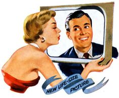 'New Life-Size Picture' - 1950s television advertisement.