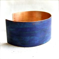 Patina Jewelry Ocean Blue Patinaed Copper  Cuff by balanced, $48.00
