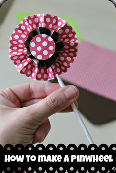 How to make a Paper Pinwheel (easy DIY instructions) that is perfect for centerpieces, cupcake decor, easy tutorial with pictures to make the perfect pinwheel