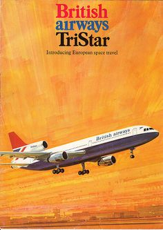 British Airways Tristar brochure - front page [cover] #travel #alookat #airlines