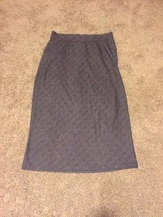 Long Skirt Plaid Modest 18/20 Gray/Black  Venezia Jeans Co. A line no slit dress #Venezia #StretchKnit