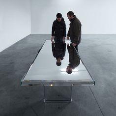 Prism Mirror Table for Glas Italia by Tokujin Yoshioka for Glasitalia | Yellowtrace