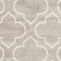 Safavieh Marist Light Gray/Ivory 7 ft. x 7 ft. Indoor/Outdoor Square Area Rug AMTW412B-7SQ at The Home Depot - Mobile