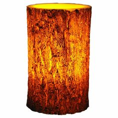 River's Edge LED Tree Bark Candle, 4x6-Inch, Brown Cabin Lodge Rustic FREE SHIP #RiversEdgeProducts