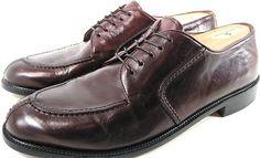Pronto Uomo Firenze Men Split Toe Oxford Shoes Leather Size 12 M Brown.  HBH 21  #ProntoUomo #Oxfords