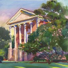 Wyatt Waters ~  Chapel at Mississippi College