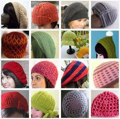 25+ Free Crocheted Hat Patterns ༺✿Teresa Restegui http://www.pinterest.com/teretegui/✿༻