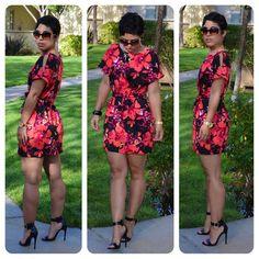Mimi G Style: #DIY Bold Floral Dress + Pattern Review: B5889 View D