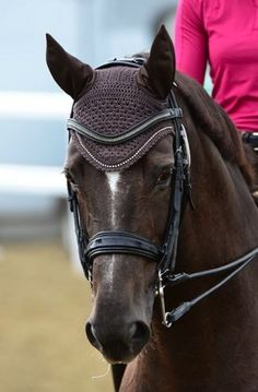 LeMieux-Vogue-Diamonte-Fly-Hood-Horse-Pony-Fly-Veil-Ear-Bonnet-Ear-Net-Hood