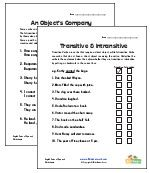 Transitive and Intransitive Verb Worksheets
