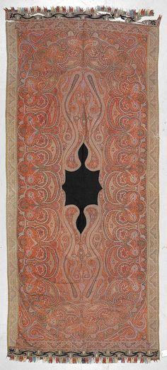 KASHMIR SHAWLS, probably India. 130x310 cm.