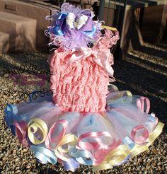 Easter Tutu Set Includes Tutu Petti Romper by preciousbabygifts, $58.00
