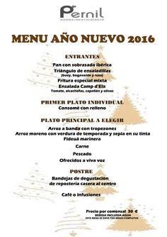 ¡Comida Año nuevo! Reserva ya en el 966 61 33 03 y en reservas@restaurantepernil.com.