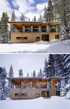 Winter Home Roof Sloped for Snow Like an Avalanche Shed ~ DesignDaily Network