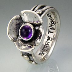 Sherry Tinsman Jennifer Band Ring With Amethyst Or Pearl