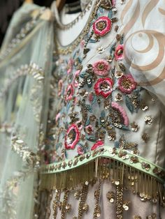 You can access more content by visiting the site. Have fun. Hand Work Embroidery, Hand Embroidery Designs, Vintage Embroidery, Embroidery Patterns, Beautiful Pakistani Dresses, Pakistani Formal Dresses, Pakistani Wedding Outfits, Couture Embroidery, Embroidery Fashion