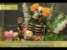 ▶ Ofrenda alusiva a la Revolución Mexicana en Puebla - YouTube