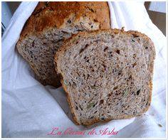 Pan de molde con harina de espelta integral y 6 semillas Pan Bread, Dessert Bread, Artisan Bread, Empanadas, Sin Gluten, Bread Recipes, Banana Bread, Cake Decorating, Bakery