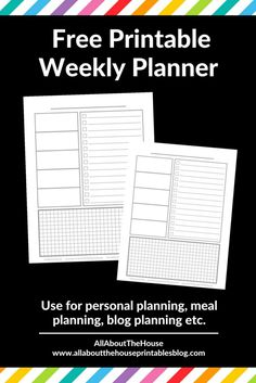 free printable weekly planner diy bullet journal inspiration ideas plan with me weekly spread a5 personal size tn insert inspo http://www.allaboutthehouseprintablesblog.com/weekly-planning-using-only-a-checklist-and-habit-tracker-download-a-free-printable-week-20-of-the-52-planners-in-52-weeks-challenge/