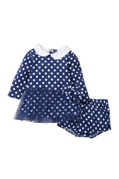 Polkadot Dress & Diaper Cover Set (Baby Girls) by Isaac Mizrahi on @nordstrom_rack