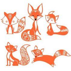 Cute Fox SVG Cuttable Designs