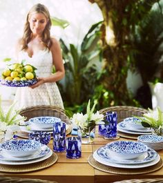 Aerin Lauder's New Palm Beach Inspired Collection for Williams Sonoma Palm Beach, Dyi, Blue And White Dinnerware, Aerin Lauder, Home Modern, Cast Iron Recipes, When I Grow Up, Visual Comfort, Williams Sonoma