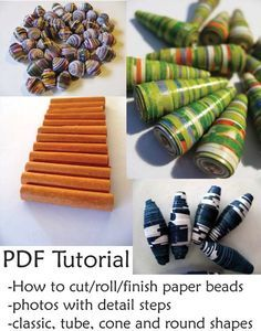 Paper Bead Making Tutorial by TwistedPlanetBeads on Etsy, $7.00