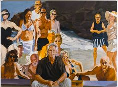 """Eric Fischl   Self-Portrait: An Unfinished Work  84"""" by 108""""  oil/linen  2011"""