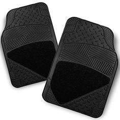All Weather Heavy Duty Metal Pattern Design Black Car Interior Front Floor Mats 2 Pieces Set Liner -- Click image for more details. (This is an affiliate link) #CarFloorMatsAllWeather